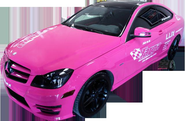 Pink Vinyl Wrap by ZR Auto